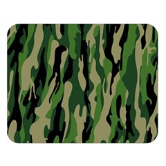 Green Military Vector Pattern Texture Double Sided Flano Blanket (large)
