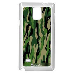Green Military Vector Pattern Texture Samsung Galaxy Note 4 Case (white)