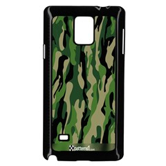 Green Military Vector Pattern Texture Samsung Galaxy Note 4 Case (Black)
