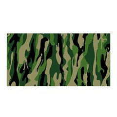 Green Military Vector Pattern Texture Satin Wrap