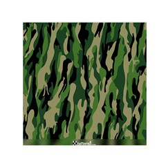 Green Military Vector Pattern Texture Small Satin Scarf (square)