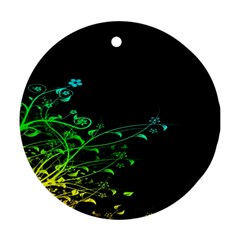 Abstract Colorful Plants Ornament (Round)