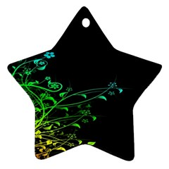 Abstract Colorful Plants Ornament (Star)