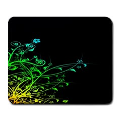 Abstract Colorful Plants Large Mousepads
