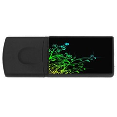Abstract Colorful Plants USB Flash Drive Rectangular (2 GB)
