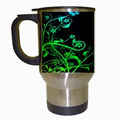 Abstract Colorful Plants Travel Mugs (white)
