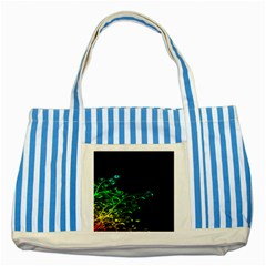 Abstract Colorful Plants Striped Blue Tote Bag