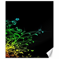 Abstract Colorful Plants Canvas 8  X 10