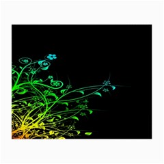 Abstract Colorful Plants Small Glasses Cloth (2 Side)