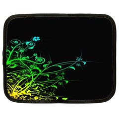 Abstract Colorful Plants Netbook Case (large)