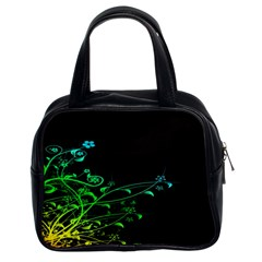 Abstract Colorful Plants Classic Handbags (2 Sides)