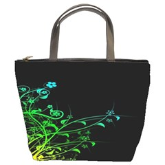 Abstract Colorful Plants Bucket Bags