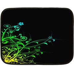 Abstract Colorful Plants Double Sided Fleece Blanket (Mini)