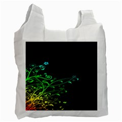 Abstract Colorful Plants Recycle Bag (One Side)