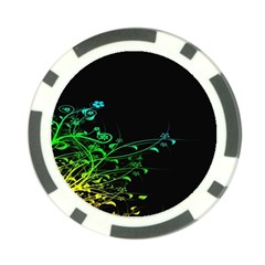 Abstract Colorful Plants Poker Chip Card Guard (10 Pack)