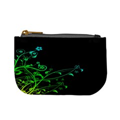 Abstract Colorful Plants Mini Coin Purses