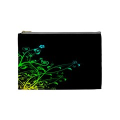 Abstract Colorful Plants Cosmetic Bag (medium)