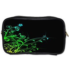 Abstract Colorful Plants Toiletries Bags 2-Side