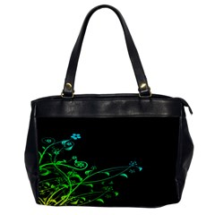 Abstract Colorful Plants Office Handbags