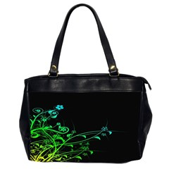 Abstract Colorful Plants Office Handbags (2 Sides)