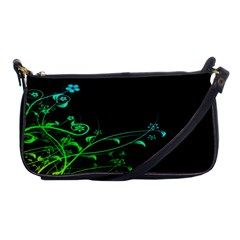 Abstract Colorful Plants Shoulder Clutch Bags