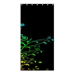 Abstract Colorful Plants Shower Curtain 36  X 72  (stall)