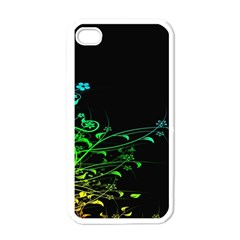 Abstract Colorful Plants Apple iPhone 4 Case (White)