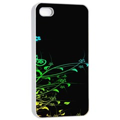 Abstract Colorful Plants Apple iPhone 4/4s Seamless Case (White)