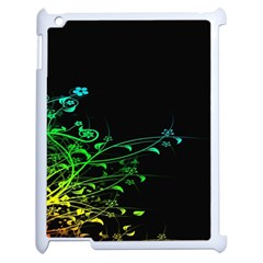 Abstract Colorful Plants Apple Ipad 2 Case (white)