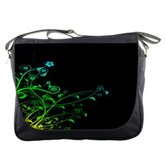 Abstract Colorful Plants Messenger Bags