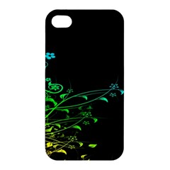 Abstract Colorful Plants Apple Iphone 4/4s Premium Hardshell Case