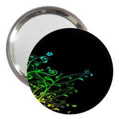 Abstract Colorful Plants 3  Handbag Mirrors