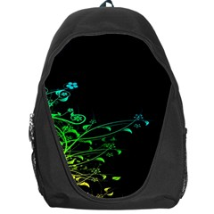 Abstract Colorful Plants Backpack Bag