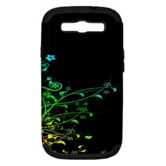 Abstract Colorful Plants Samsung Galaxy S Iii Hardshell Case (pc+silicone)