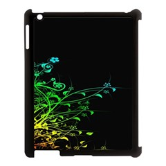 Abstract Colorful Plants Apple iPad 3/4 Case (Black)