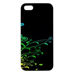 Abstract Colorful Plants Apple Iphone 5 Premium Hardshell Case