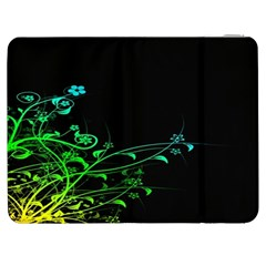 Abstract Colorful Plants Samsung Galaxy Tab 7  P1000 Flip Case