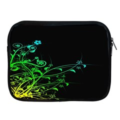 Abstract Colorful Plants Apple Ipad 2/3/4 Zipper Cases