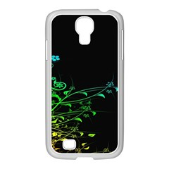 Abstract Colorful Plants Samsung GALAXY S4 I9500/ I9505 Case (White)