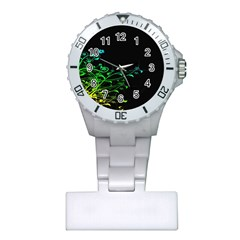 Abstract Colorful Plants Plastic Nurses Watch