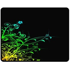 Abstract Colorful Plants Double Sided Fleece Blanket (medium)