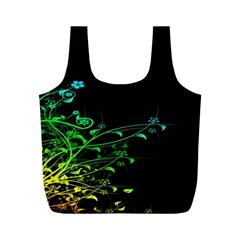 Abstract Colorful Plants Full Print Recycle Bags (M)