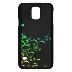 Abstract Colorful Plants Samsung Galaxy S5 Case (black)