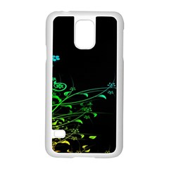 Abstract Colorful Plants Samsung Galaxy S5 Case (white)
