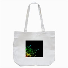 Abstract Colorful Plants Tote Bag (white)