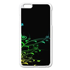 Abstract Colorful Plants Apple iPhone 6 Plus/6S Plus Enamel White Case