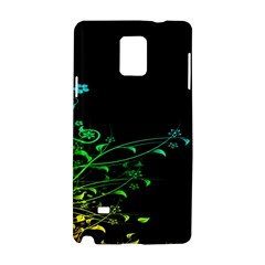 Abstract Colorful Plants Samsung Galaxy Note 4 Hardshell Case