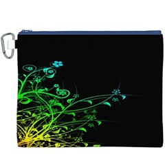 Abstract Colorful Plants Canvas Cosmetic Bag (XXXL)