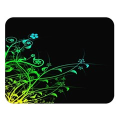 Abstract Colorful Plants Double Sided Flano Blanket (Large)