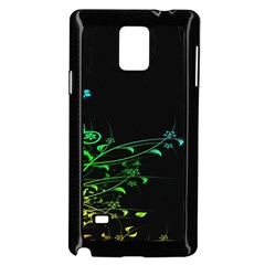 Abstract Colorful Plants Samsung Galaxy Note 4 Case (black)